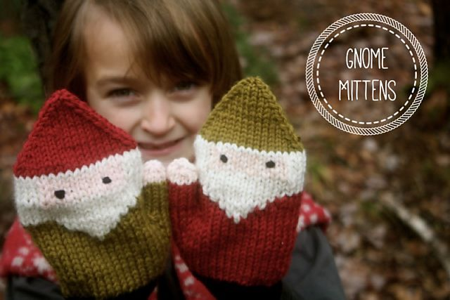 Ravelry: Gnome Mittens pattern by Birch Hollow Cottage