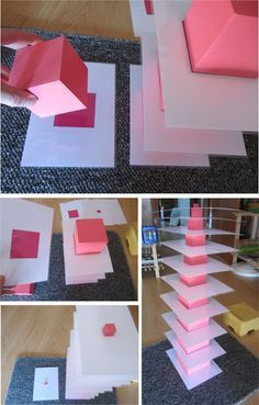 Montessori - Pink tower extensions. This is one I haven't seen before