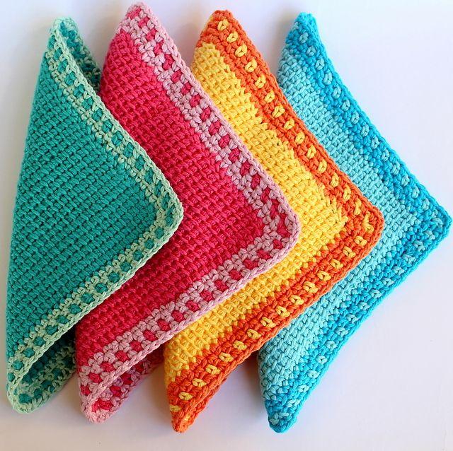 Ravelry: Tunisian Crochet Washcloth pattern by Poppy & Bliss (Michelle Robinson)