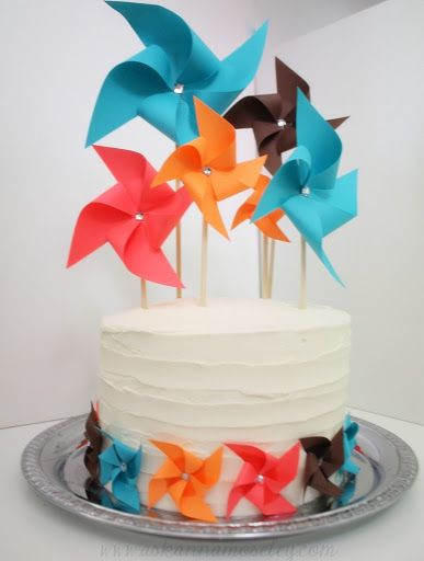 Pinwheel Cake - Such a fun recipe to make for a party!