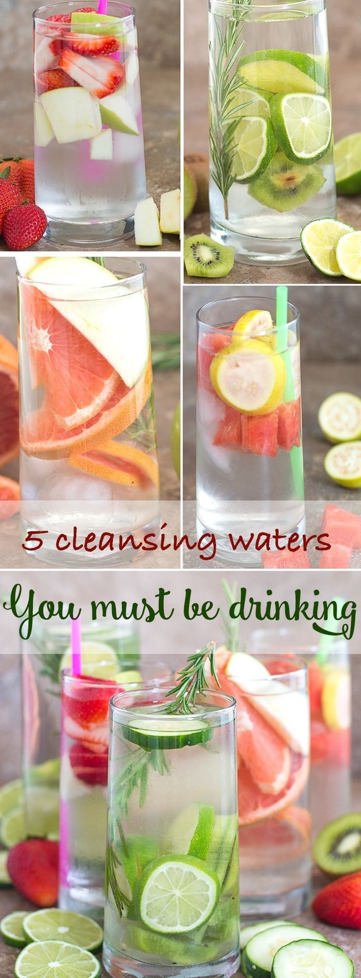 5 delicious summer cleansing waters that you should be drinking everyday to stay hydrated #AD #PureLife35pk