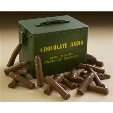 Chocolate Ammo in a Novelty Ammo Can