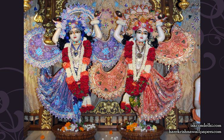 To view Gaura Nitai  Wallpaper of ISKCON Dellhi in difference sizes visit - http://harekrishnawallpapers.com/sri-sri-gaura-nitai-iskcon-delhi-wallpaper-003/
