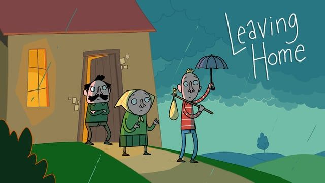 a film by: Joost Lieuwma                                               animated at Frame Order  When his father decides Richard is old enough to leave his parental home, he sends him out into the world. Only Richards keeps returning home: every time in a more bizarre way. Somehow he seems attached to the house. When an unfortunate alteration in life takes place, Richard is forced to stand on his own feet.  Een jongvolwassen man is oud genoeg om op eigen benen te staan. Maar als zijn oud...