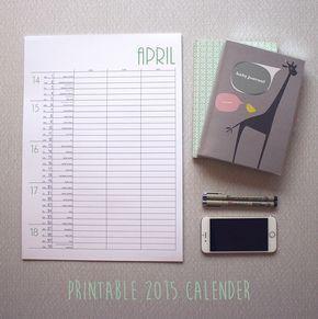 Utskrivbar kalender av Emma på Stordåd