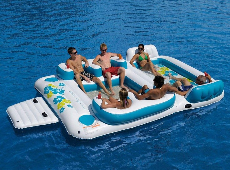 Captivating New Giant 6 Person Inflatable Lake Raft Pool Float Ocean Floating Island  Huge In Sporting Goods, Water Sports, Swimming, Inflatable Floats U0026 Tubes