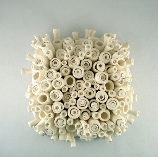 Ceramic Sculpture...reminds me of  a cardboard sculpture i've done.