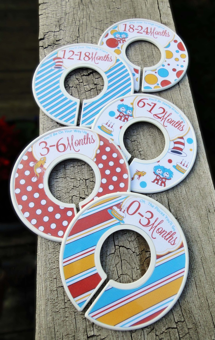 Dr Seuss Baby Closet Dividers---- I love this idea I know the struggle of all the baby clothes in no order