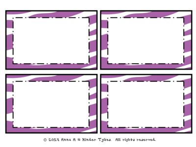 Purple Zebra Labels by Kinder Tykes from KinderTykes on TeachersNotebook.com -  (2 pages)  - These Purple Zebra Labels created by Kinder Tykes are perfect for labeling anything within your classroom!