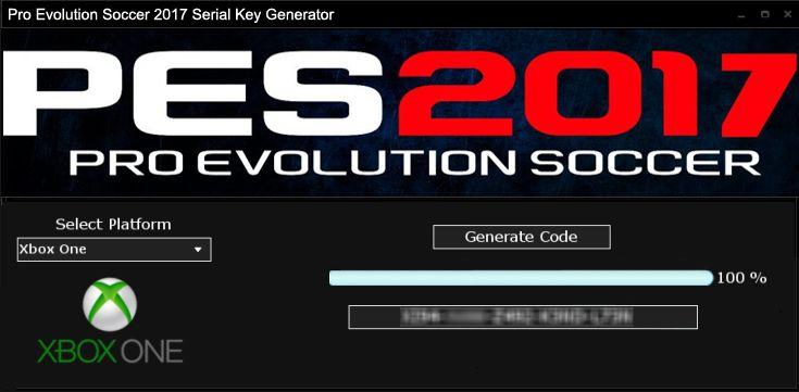PES 2017 Serial Key Generator