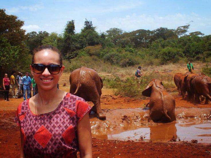 Elephant orphanage in Kenya