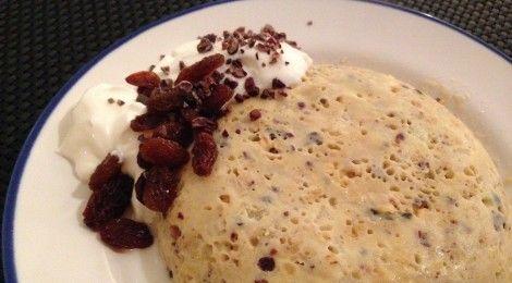 Mug cake – snel en gezond ontbijt cakeje