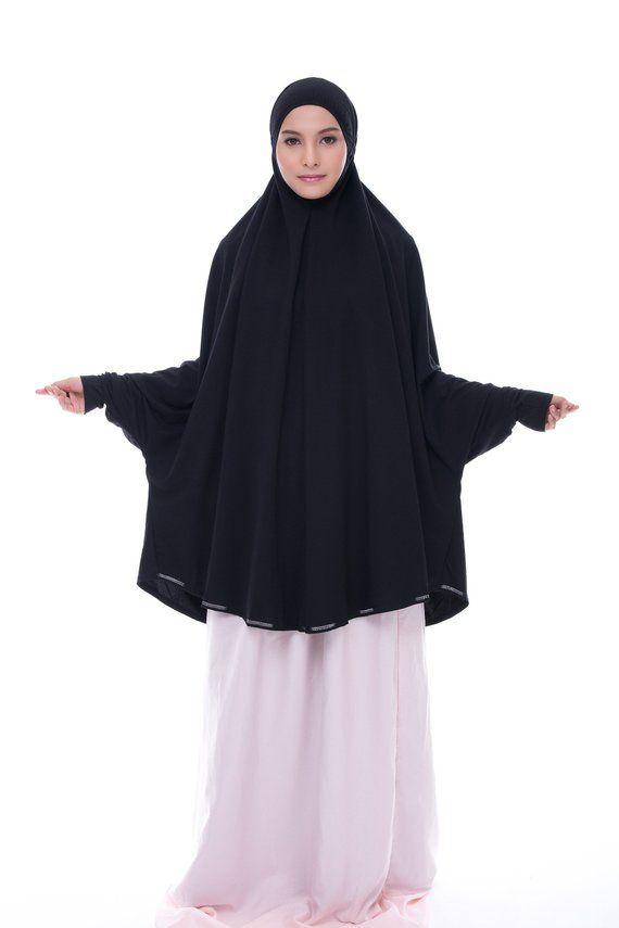 d4cdd382b One Piece Telekung Mini Denim (Mukena Jilbab Prayerwear Khimar Prayer  Dress) for Umrah and Hajj