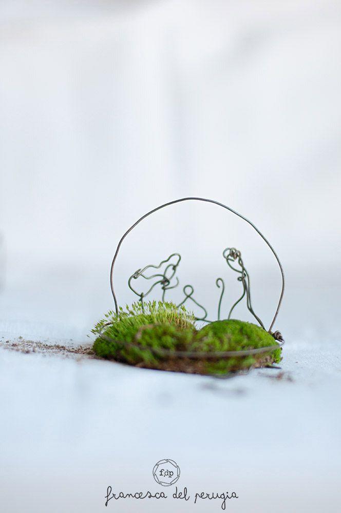 il mio eco presepe realizzato con materiale di riutilizzo e materiale proveniente dalla natura