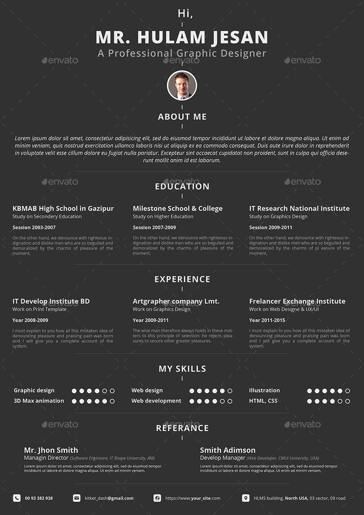 33 best Resume Template Designs images on Pinterest Resume - proffesional resume
