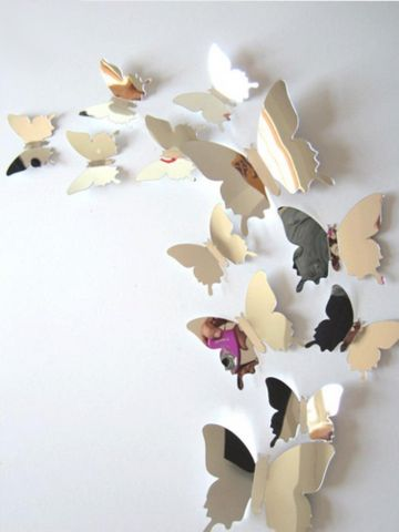 Butterfly Wall Decals - Mirror