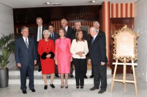November 7, 2013, Her Majesty Queen Sofia of Spain arrived at the Hotel Occidental Miguel Ángel in Madrid to attend the Federación Española de Bancos de Alimentos (FESBAL) award ceremony