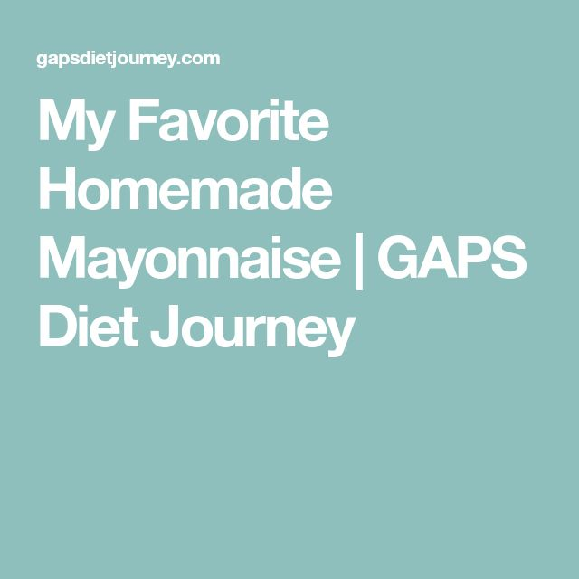 My Favorite Homemade Mayonnaise | GAPS Diet Journey