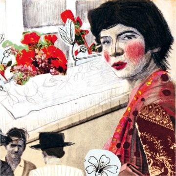 """La Negra Ester, décimas ilustradas"" de Roberto Parra ilustrada por Soledad Poirot/ Negra Ester, illustrated ten line poems""  by Roberto Parra, illustrated by  Soledad Poirot."