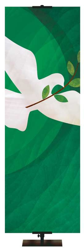 Custom Church Banner Dove with Olive Branch 3 Left