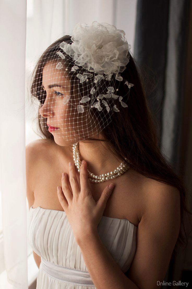 #Voaleta #handmade cu floare pentru #mirese #nunti #bride #wedding
