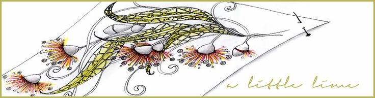 """a little lime:  """"Bracketed"""" VIDEO by Helen Williams showing how to draw another of her patterns."""