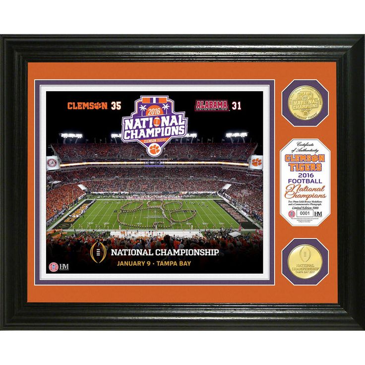 Clemson Tigers Highland Mint College Football Playoff 2016 National Champion Bronze Coin Photomint