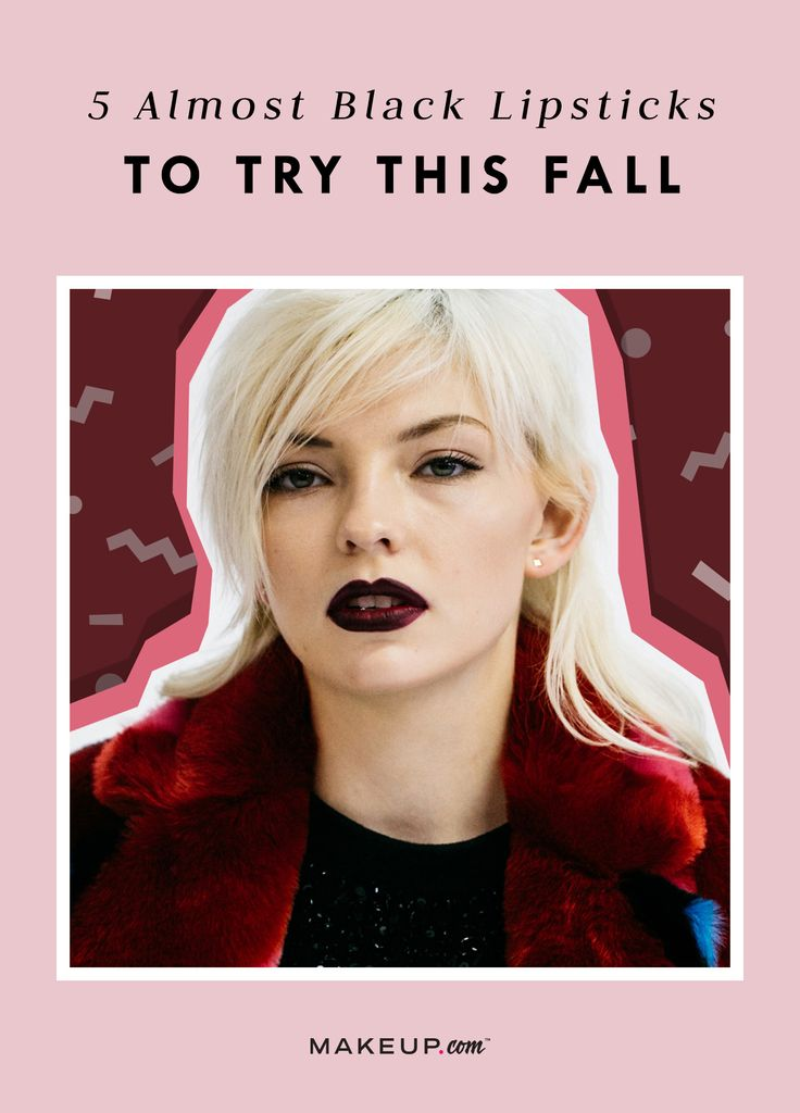 5 Almost-Black Lipsticks for Fall These grungy, almost-black lipstick shades will feed your soul for fall. We want them all. Almost-black lipstick , black lipstick , dark lipstick , fall dark lipstick , fall makeup trends , fall makeup colors , fall lip colors #fall #falllipstick #darklipstick #gothic #oxblood #lipsticks #lipstickjunkie