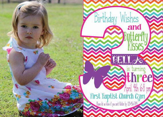 7 best images about Presleys first birthday party – 3rd Birthday Invitation Cards