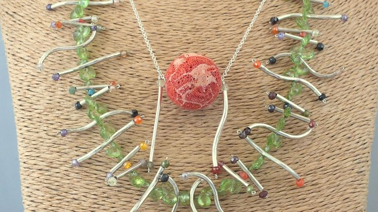 """Struggle for life"" necklace by Anca Popescu  - Contemporary jewelry application for Taboo Exhibition 2014"