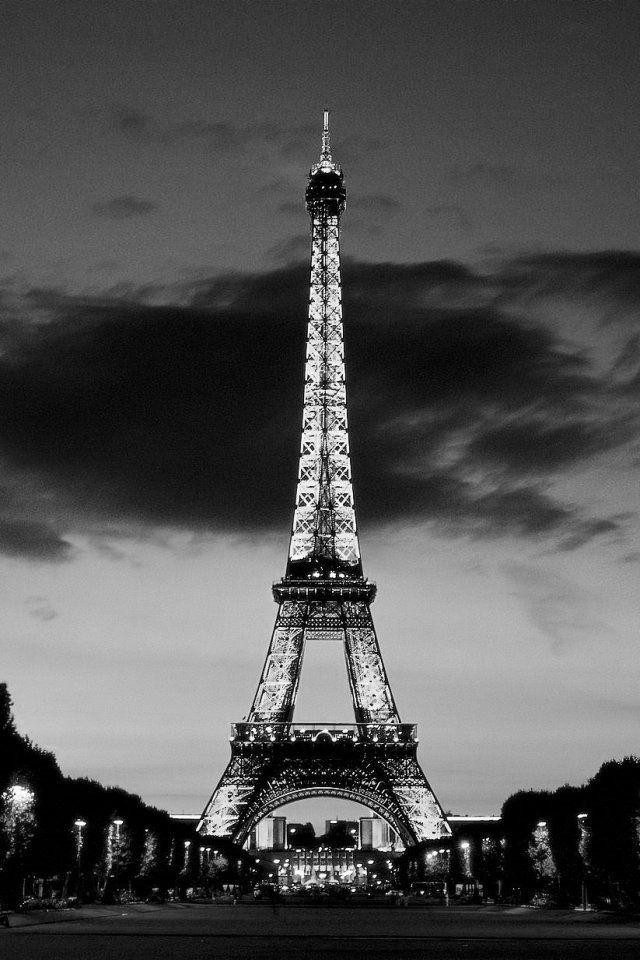 Iphone Wallpaper Black 134 En 2020 Fond D Ecran Noir Et Blanc Tour Eiffel Tourisme