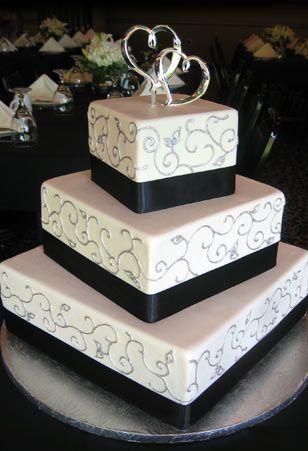 Best 20 Square shaped wedding cakes ideas on Pinterest Round