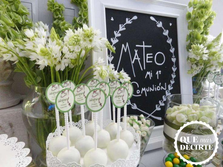 Comunion en verde Comunion Party Ideas | Photo 7 of 25 | Catch My Party