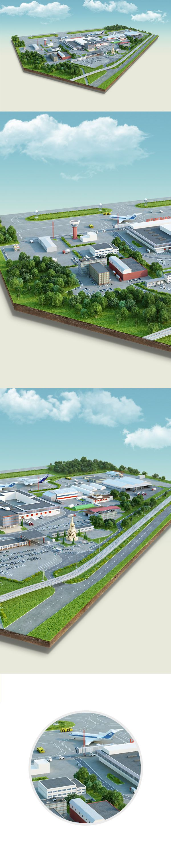 industrial islands on Digital Art Served