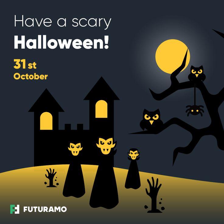 Have a scary Halloween! #halloween #halloweenicons #vampire #spookytree #ghost #zombiehand #spider #hauntedcastle #spookyowl