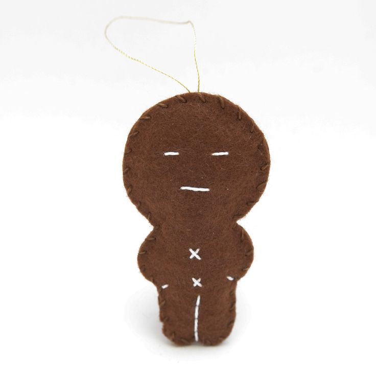 Neutral gingerbread - gingerbread man, christmas decor, christmas gift, christmas decoration, cute, adorable. by HalloweenOrChristmas on Etsy