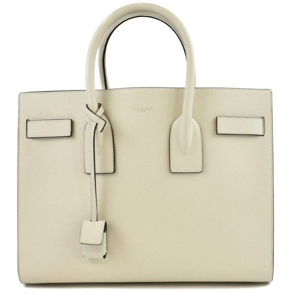 Sac De Jour Small Tote (7.945 BRL) ❤ liked on Polyvore featuring bags, handbags, tote bags, ivory, leather purse, beige leather tote, man bag, beige tote bag and genuine leather tote
