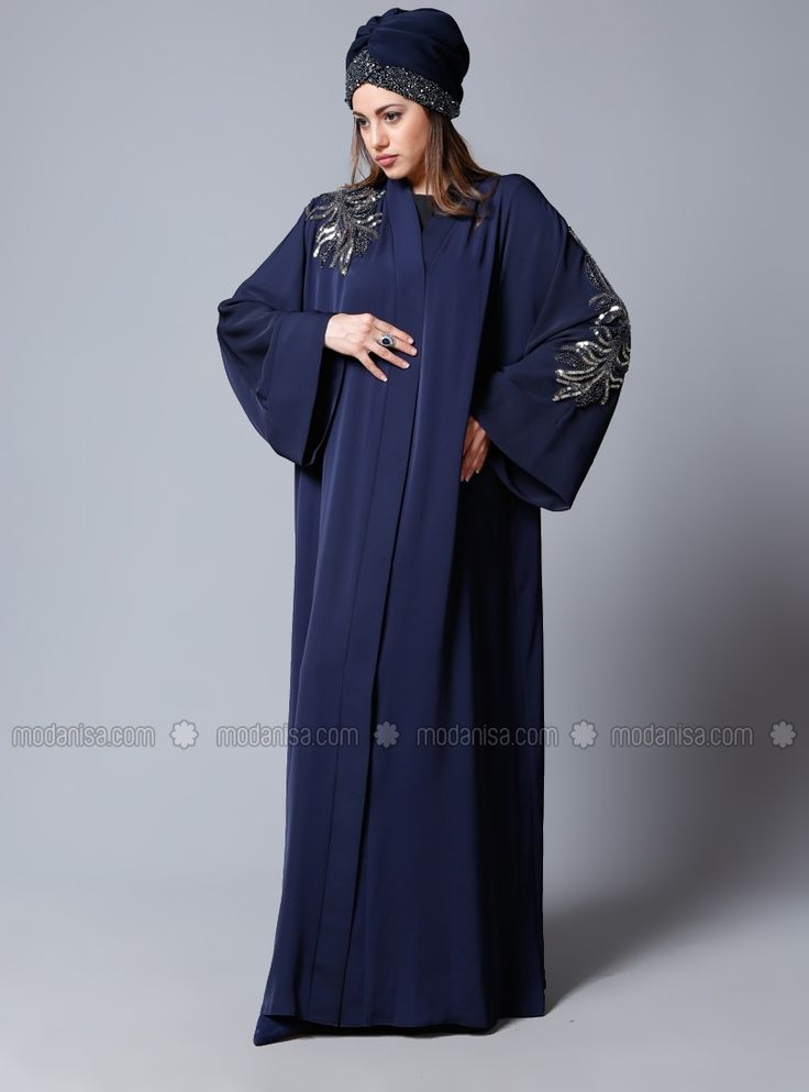 Radiance Abaya - Navy Blue - SHEIKHA