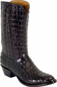 Mens Lucchese Classics Black Hornback American Alligator