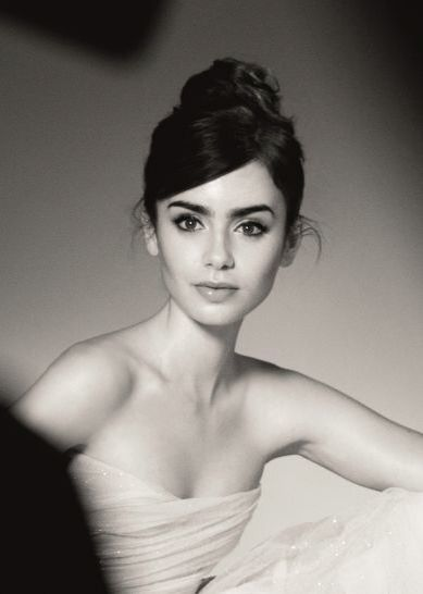Miss Lily Collins for Lancome