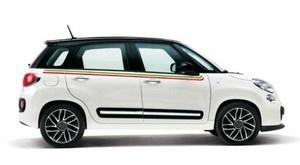 Fiat 500 L Sticker-Set - Italienische Flagge (Folienbeklebung)