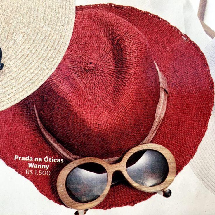 Disfarce Perfeito: combine #chapéu de #palha com aba larga e um par de #óculos escuros para inaugurar a #estação da #areia em grande #estilo. ☀  #oculosdawanny #ferias #fimdeano #oticaswanny
