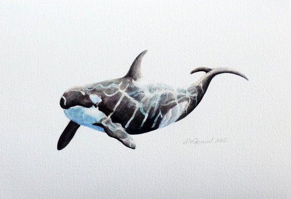 Orca an Aquatic Beastie Glicee Print by ellaCute on Etsy