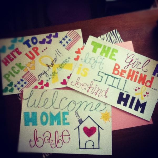 Deployment welcome home poster projects diy for Welcome home decorations
