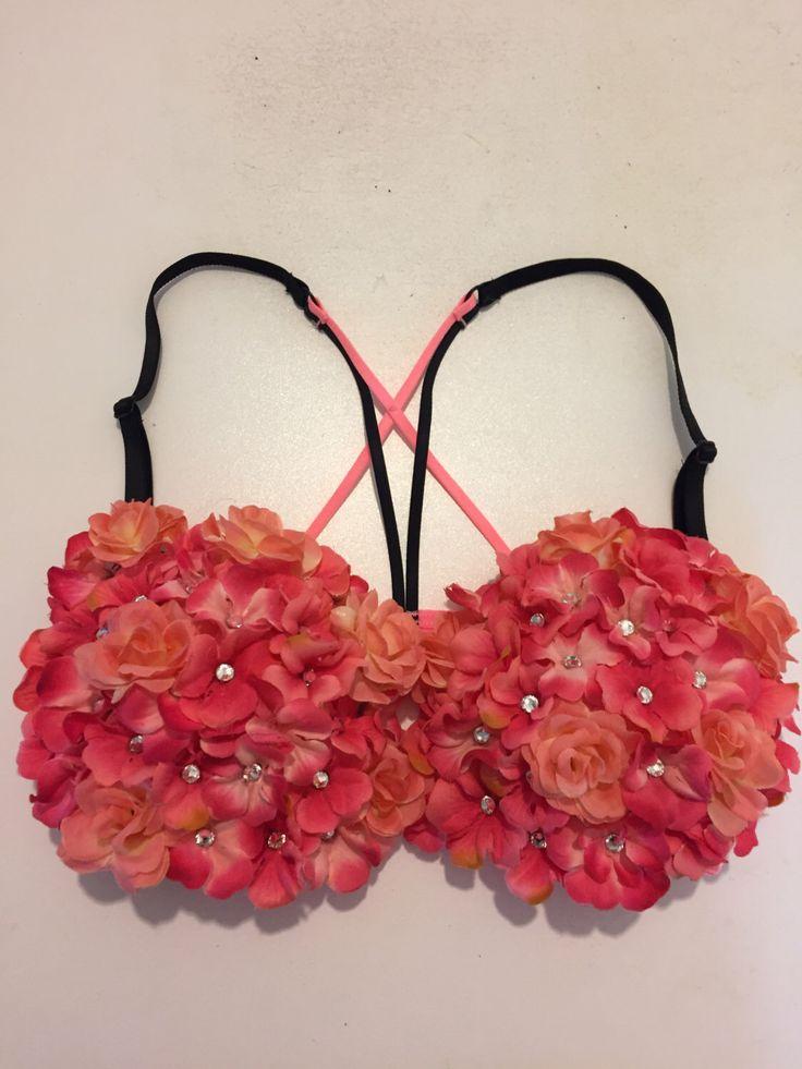 Tropical Pink Rave Bra by ElectricSkyCanada on Etsy https://www.etsy.com/ca/listing/384392474/tropical-pink-rave-bra