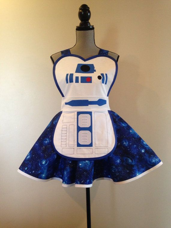 R2D2 Star Wars inspired Apron by AriaApparel on Etsy