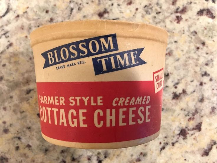 Rare Antique Blossom Time 1 Pint Cottage Cheese Container Lucerne Milk Co Calif BlosomTimeLucerneMilkCo