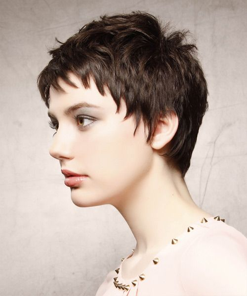 Casual Short Straight Hairstyle. Click on the image to try on this hairstyle and view styling steps!