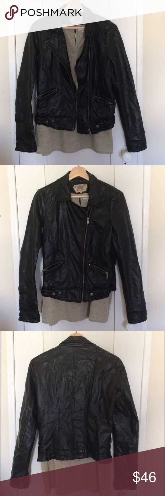 Zara Trafaluc Faux Leather Jacket Perfect weight, great biker jacket Zara Jackets & Coats Utility Jackets