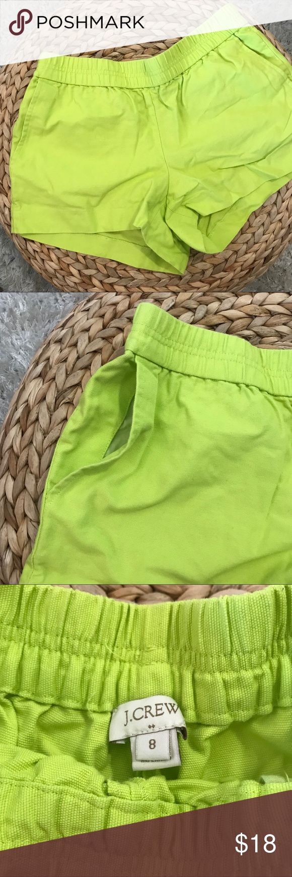 J Crew neon green shorts with pockets Great used condition, see pics for details J. Crew Shorts